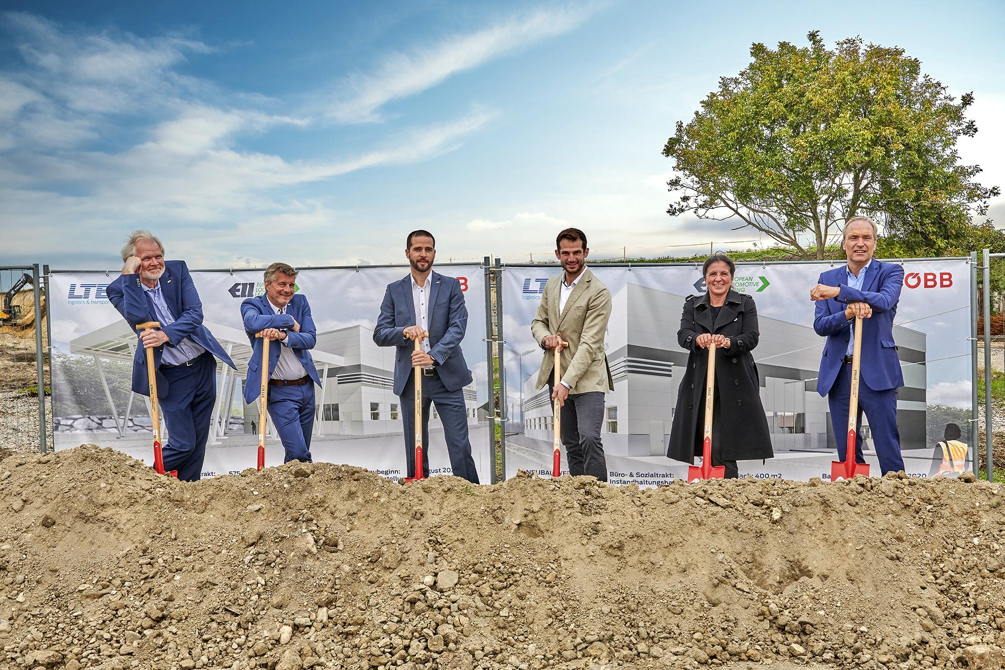 (vlnr) Andreas Mandl (CEO LTE-group), Michael Benda (CFO LTE-group), Thomas Kollnig (LTE-group), Armin Wohlfahrter (ÖBB), Sandra Karl-Gottbauer (ÖBB), Kai Brüggemann (ÖBB)